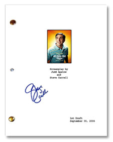 40 year old virgin autographed script