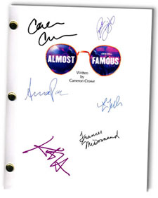 Almost Famous signed movie script