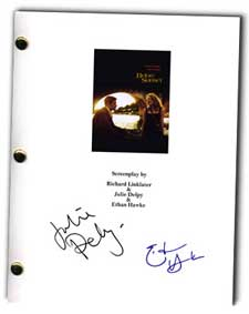 before sunset autographed movie script