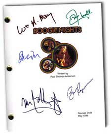 boogie nights autographed movie script