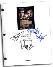 brothers grimm autographed movie script