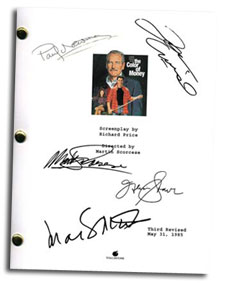 color of money autographed script
