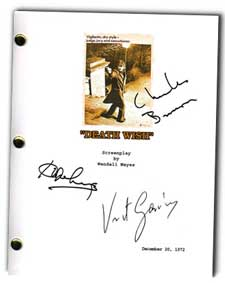 death wish 1974  signed movie script