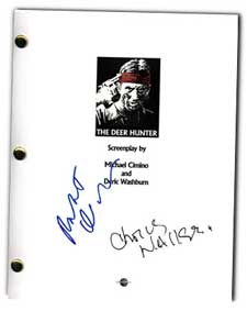 deer hunter  signed movie script