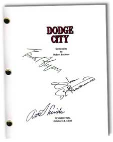 dodge city 1939  signed movie script