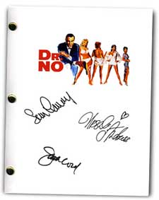 dr no 1962  signed movie script
