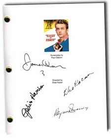 east of eden signed script
