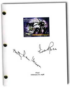 1958 the fly signed script