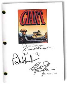 giant 1956 signed script