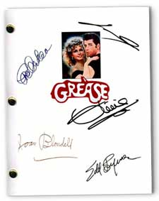 1978 grease signed movie script