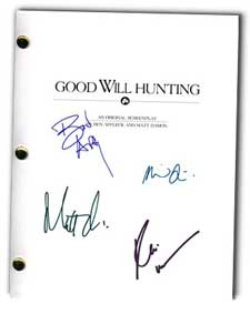 good will hunting signed script