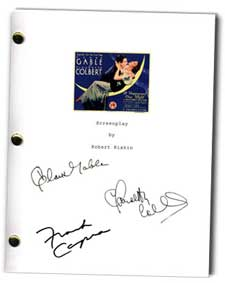 it happened one night 1934 signed script