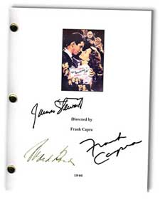 it's a wonderful life 1946 signed script