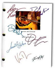 kill bill signed script