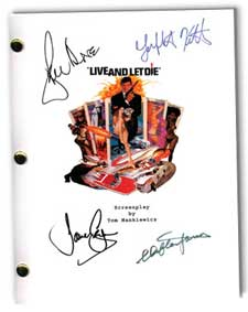 live and let die 1973  signed script