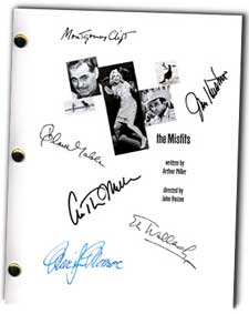 the misfits 1961 signed script