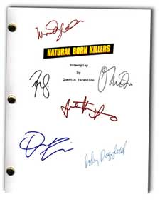 natural born killers signed script