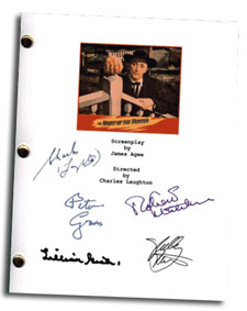 night of the hunter signed script