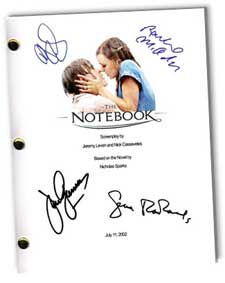 the notebook 2004 signed script