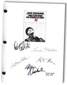 one flew over the cuckoo's nest signed script