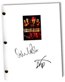 pirates of the caribbean signed script