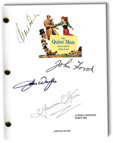 quiet man 1952 signed script