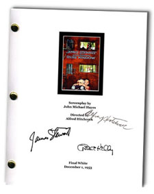 rear window 1954 signed script