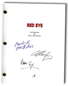 red eye 2005 signed script