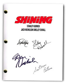 the shining 1980  signed script