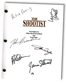 the shootist  signed script