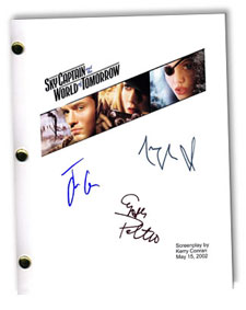 sky captain of tomorrow  signed script