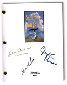 sound of music  signed script