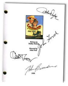 stagecoach  signed script