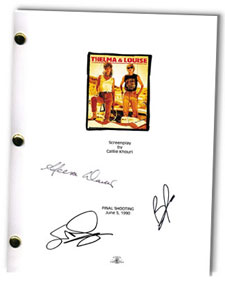 thelma and lousie signed script