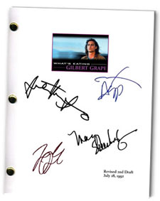 what's eating gilbert grape  signed script