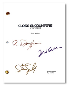 close encounters autographed script