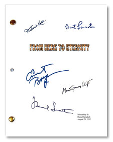 1953 from here to eternity signed script