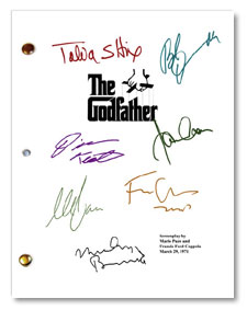 1972 the godfather signed script