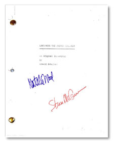 1963 love with a proper stranger  signed script
