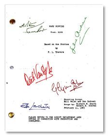 mary poppins signed script