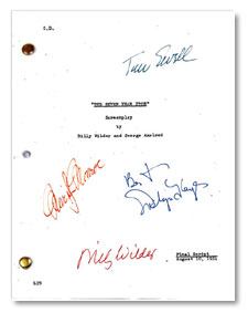 seven year itch 1955  signed script