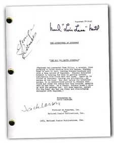 1953 adventures of superman signed script