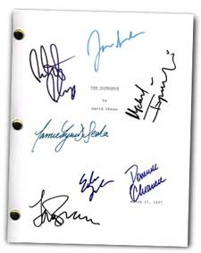 the sopranos tv pilot signed script
