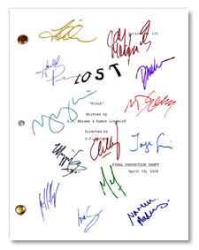 Lost TV pilot  signed script