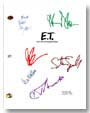 e.t. extraterrestrial signed script