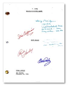 blue hawaii autographed movie script