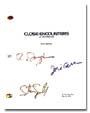 close encounters signed script