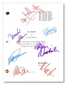 the departed  signed movie script