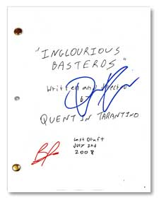 inglourious basterds signed script