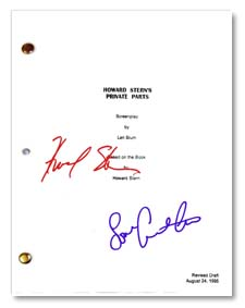 howard stern's private parts signed script